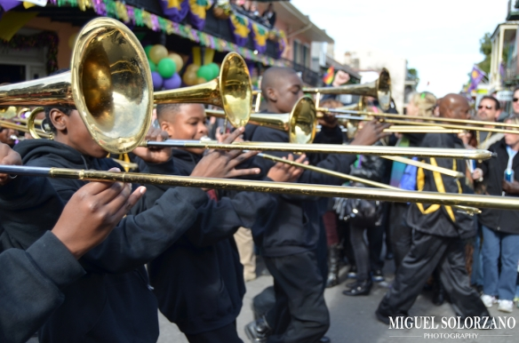 Marching Bands and Dancers of Mardi Gras 2012