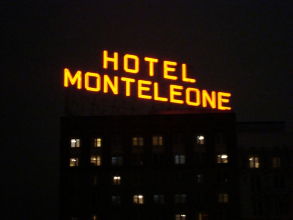 Hotel Monteleone Sign Night Shot