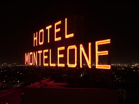 Hotel Monteleone Sign Night
