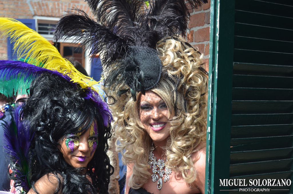 Mardi Gras Bourbon Street People of mardi gras in the