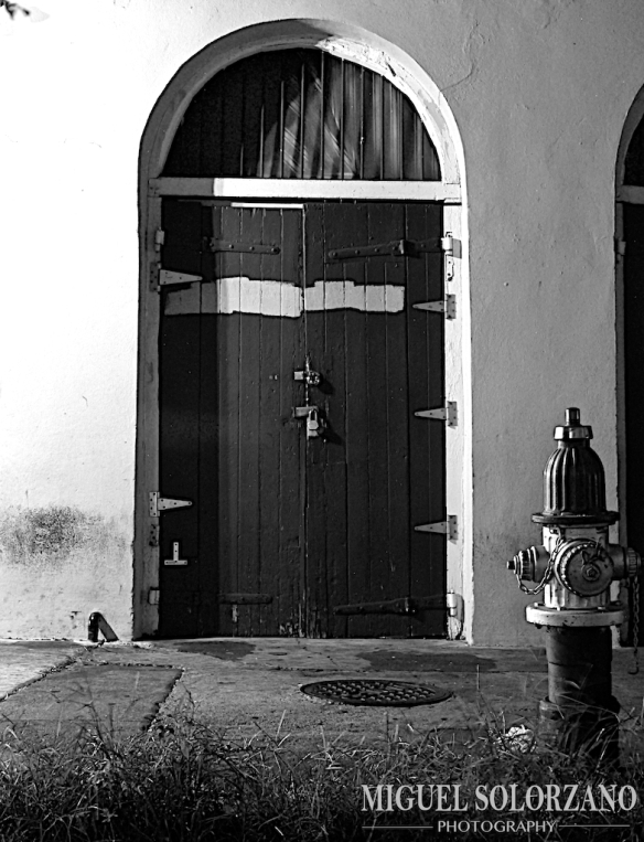 Door and Fire hydrant