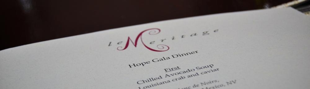 Hope Gala Dinner at Le Meritage