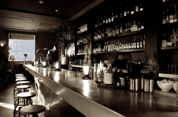 Images of Bellocq Lounge New Orleans in sepia