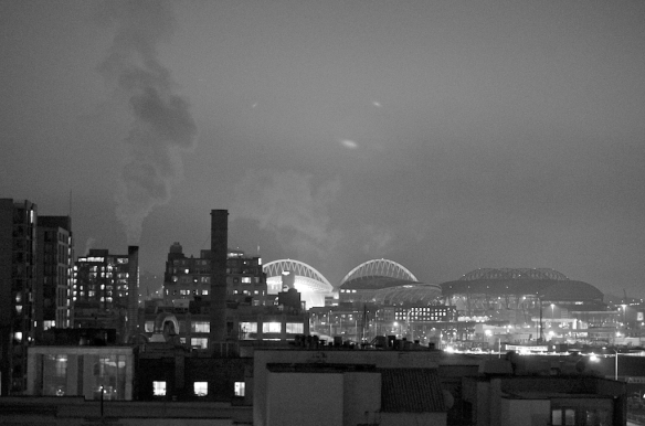 Seattle Waterfront in Black & White