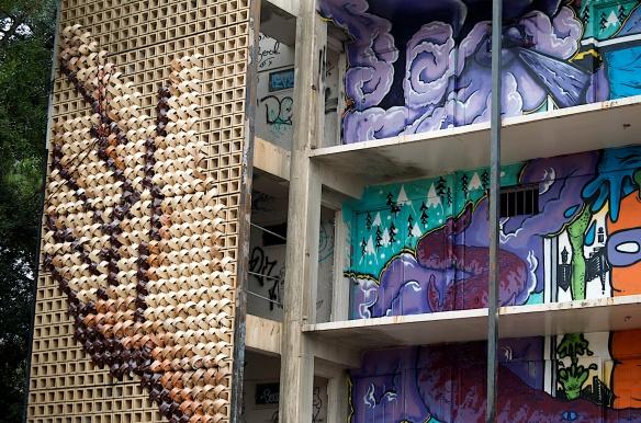 New Orleans Prospect.3 street art installation; Exhibit Be.