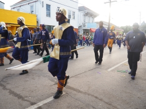 Week 1 of Mardi Gras 2016, Uptown, New Orleans, LA. Carrolton, King Arthur, Allah Parades on Magazine St. Mardi Gras 2016. New Orleans, LA