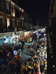 Mardi Gras 2016. Krewe du Vieux in the French Quarter.