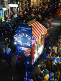 Mardi Gras 2016. Krewe du Vieux in the French Quarter.