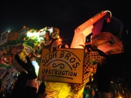 Mardi Gras 2016. Krewe of Hermes, D'Etat and Morpheous. New Orleans, LA.