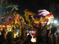 Krewe of Orpheous at St. Charles Avenue. Mardi Gras 2016. New Orleans, LA