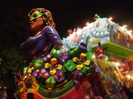 Wednesday Night of Carnival in New Orleans. Krewe of Druids and Mystic Krewe of Nyx. Mardi Gras 2016. Mystic Krewe of Nyx
