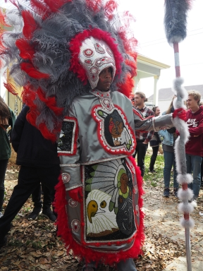 Mardi Gras Indians on Super Sunday 2016. New Orleans, LA